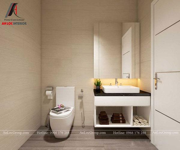 thiết kế phòng tắm chung cư 60m2