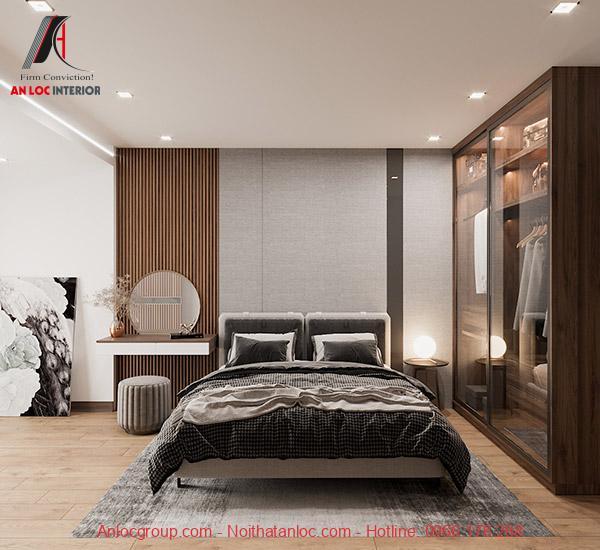Phòng ngủ chung cư 90m2 hợp phong thủy