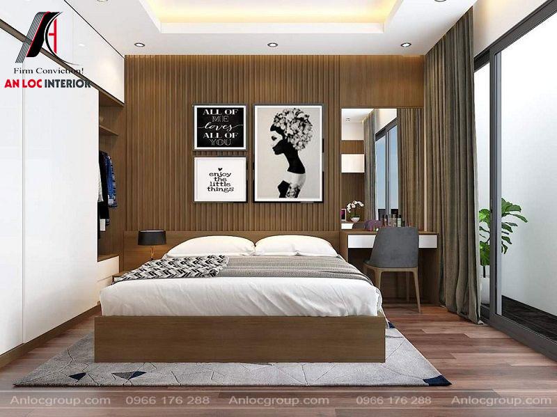 Phòng ngủ nhà ống đơn giản, đảm bảo công năng sử dụng