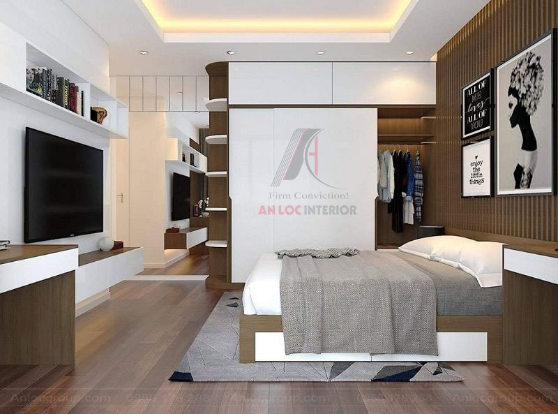 TĐồ nội thất được lựa chọn tinh tế, tiết kiệm tối đa diện tích căn phòng