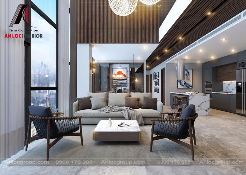 Thiết kế penthouse 233m2 tại Hapulico Vũ Trọng Phụng