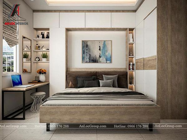 Phòng ngủ master được sắp xếp một cách gọn gàng