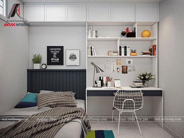 Phòng ngủ nhỏ được thiết kế đơn giản