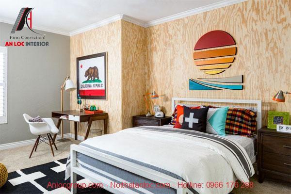 Thiết kế phòng ngủ cho bé trai nhẹ nhàng, đơn giản