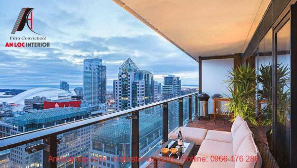 Thiết kế ban công chung cư với tầm nhìn rộng mở, thỏa sức ngắm cảnh