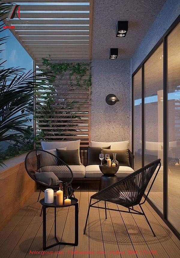 Trang trí ban công căn hộ với những đồ nội thất đẹp, độc đáo