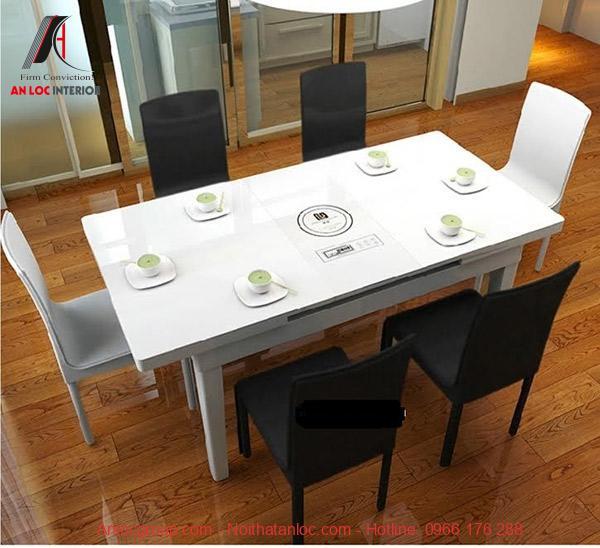 Mẫu 20: Bàn ăn xếp đa năng phục vụ mọi nhu cầu của gia chủ