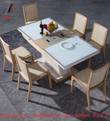 Mẫu 21: Bộ bàn ăn thông minh 4 ghế