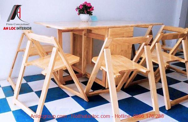 Mẫu 29: Bộ bàn gấp gọn làm từ chất liệu gỗ cao cấp