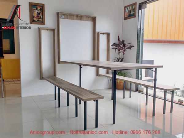 Mẫu 10: Bàn ăn xếp đa năng mang đến không gian nội thất tiện nghi, hiện đại