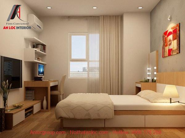 Vẻ đẹp căn phòng đảm bảo hài hòa với tổng thể nội thất