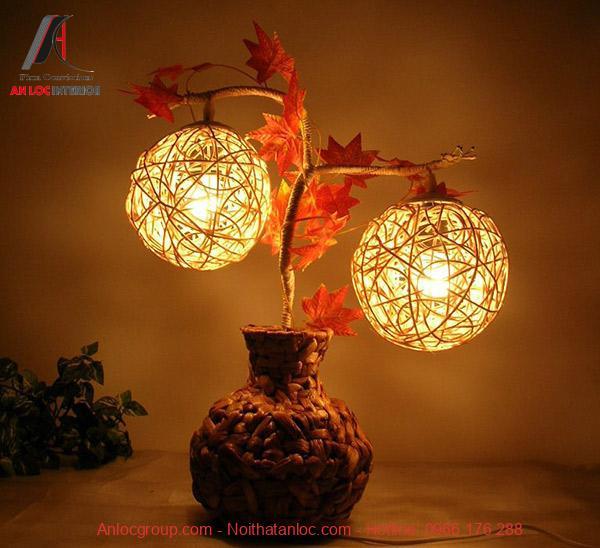 Đèn ngủ cây ra trái nghệ thuật mang hiệu quả thẩm mỹ đạm nét