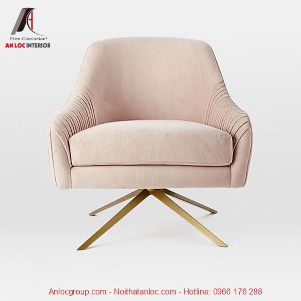 Mẫu 13: Mẫu ghế sofa dành cho các bạn nữa với gam hồng nhẹ nhàng