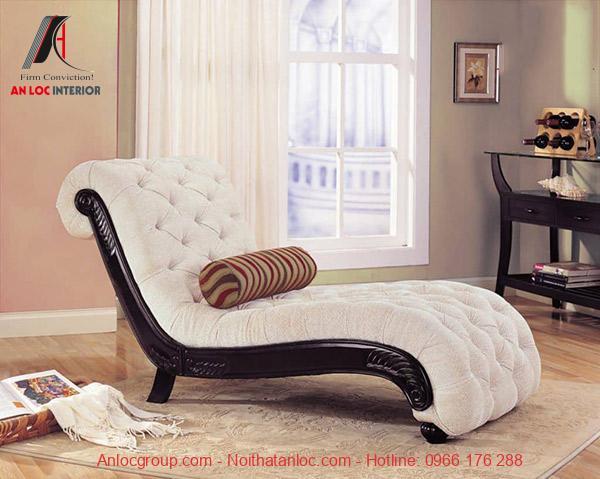 Mẫu 23: Gam màu trung tính của bộ ghế sofa hài hòa với tổng thể căn phòng