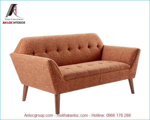 Mẫu 4: Bộ ghế sofa mini cho phòng ngủ được phối hợp màu sắc hài hòa