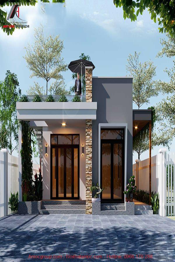 Chi phí xây mẫu nhà cấp 4 đẹp 120m2 3 phòng ngủ 1 thờ bố trí ánh sáng, màu sắc hợp lý