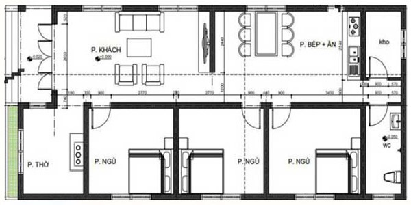 Thiết kế mẫu nhà cấp 4 đơn giản, hiện đại đến từng đường nét