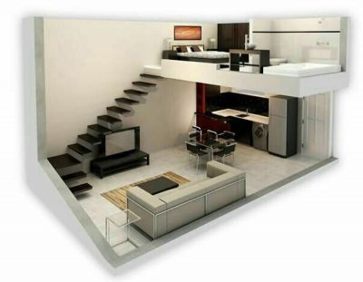 Mẫu nhà cấp 4 có tầng lửng 5x15 vẫn đảm bảo yêu cầu về thẩm mỹ