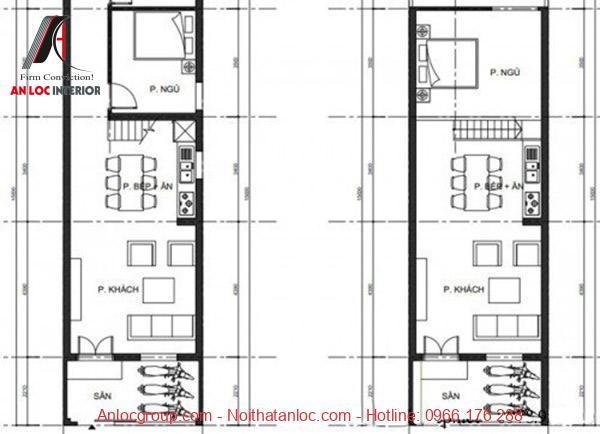 Bản vẽ thiết kế mẫu nhà cấp 4 đẹp 4x15