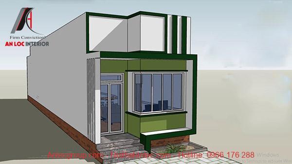 Kiẻu nhà cấp 4 đẹp 4x20 có kiến trúc đơn giản, tích hợp công năng