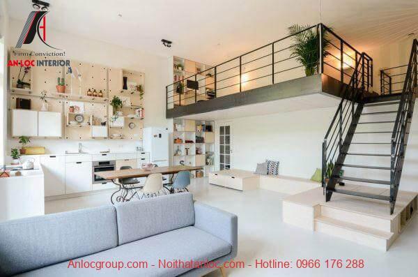 Nội thất tầng lửng cần đảm bảo hài hòa với nội thất của căn nhà cấp 4