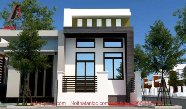 Kiến trúc nhà cấp 4 đẹp 50m2 được bố trí đơn giản, hài hòa