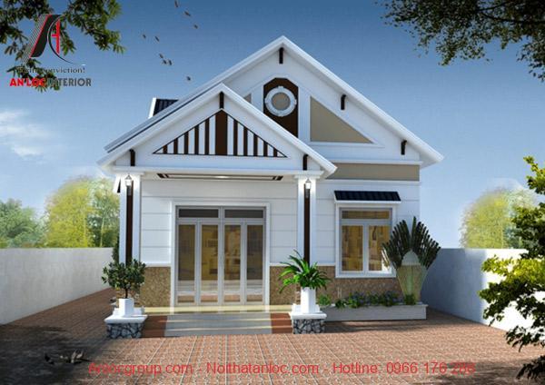Kiểu nhà cấp 4 mái thái đẹp, đơn giản mang đến sự đồng nhất trong tổng thể kiến trúc