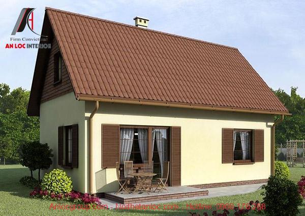 Mẫu nhà 5x10m giúp gia chủ có nhiều lựa chọn về kiến trúc mái