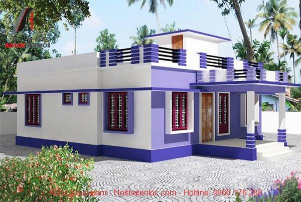 Màu sơn ngoại thất nổi bật tạo thu hút cho ngôi nhà của bạn