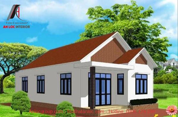 Thiết kế nhà 5x10 sử dụng mái tôn tạo điểm thu hút mạnh mẽ
