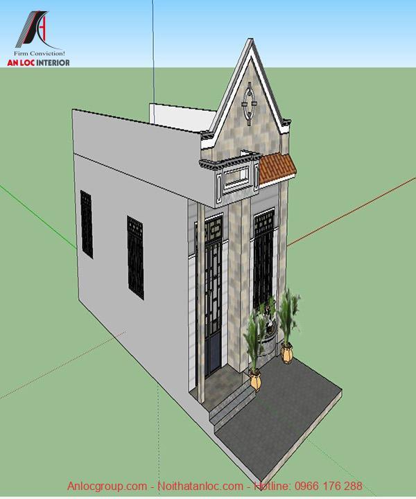 Kiến trúc nhà cấp 4 đẹp 5x10 theo phong cách hiện đại