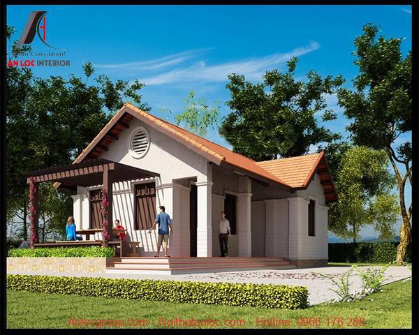 Kiến trúc nhà cấp 4 mái thái đơn giản nhưng tinh tế đến từng chi tiết