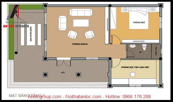 Bản vẽ card thiết kế nhà cấp 4 diện tích 80m2