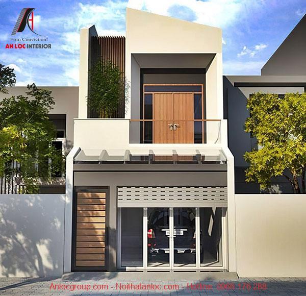 Mẫu thiết kế nhà đẹp 6x15m có mặt tiền nổi bật, cuốn hút