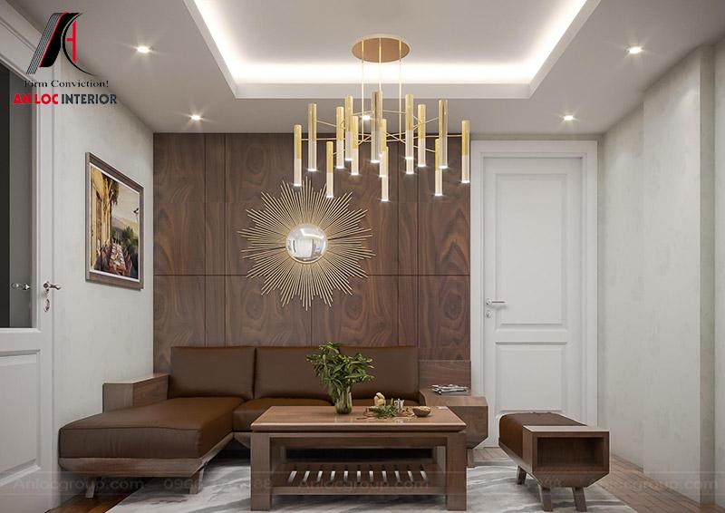 Nội thất tầng 7 lựa chọn màu sắc và vật dụng khác hoàn toàn với không gian phòng ngủ