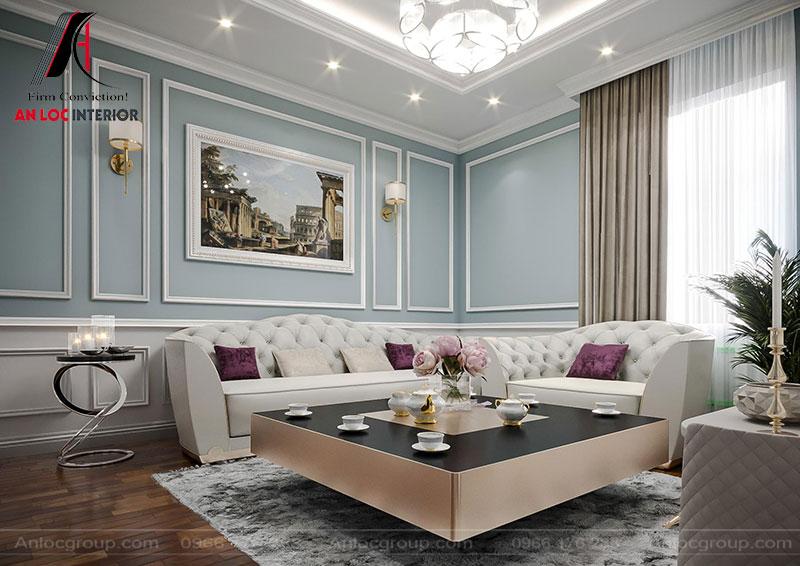 Sofa đón khách lựa chọn theo phong cách tân cổ điển mang đến sự sang trọng, quyến rũ
