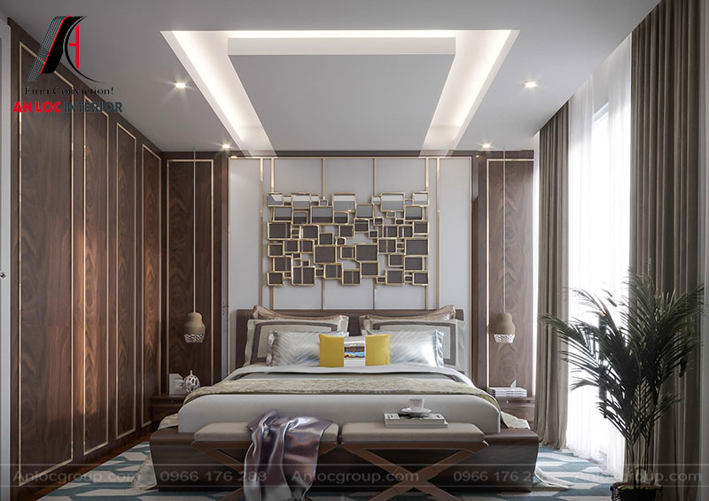 Không gian phòng ngủ tầng 7 khách sạn Bắc Ninh với cách trang trí mới lạ