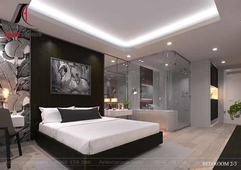 Chi tiết trang trí trên bức tường lấy cảm hứng từ cây chuối. Cách vận dụng chi tiết độc đáo mang đến cảm quan độc đáo cho căn phòng