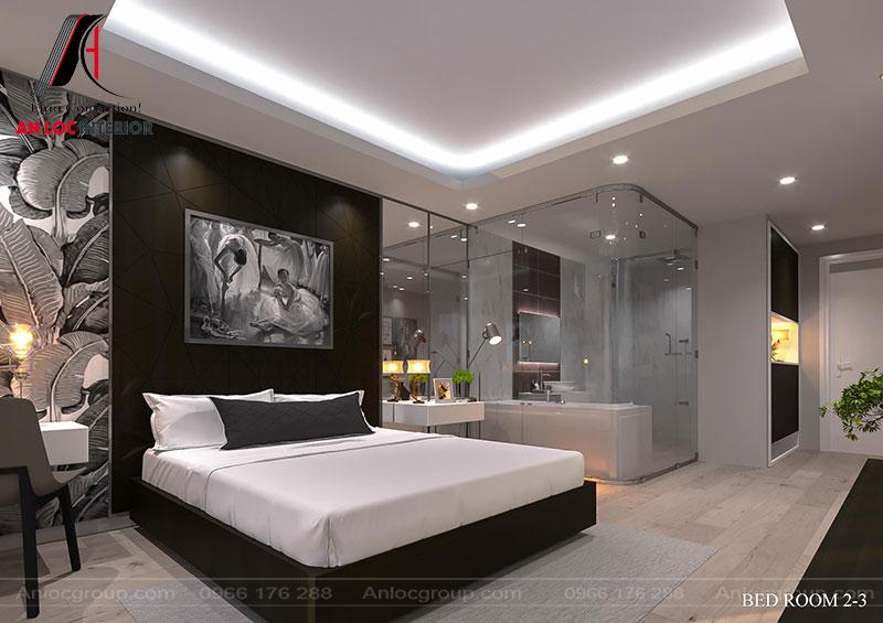 Hệ thống chiếu sáng được xây dựng ăn nhập với tổng thể căn phòng