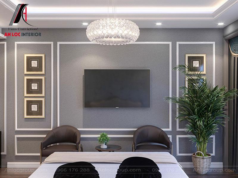 Cây xanh được bố trí trong các phòng vừa cân bằng màu sắc vừa đảm bảo môi trường thoáng đãng