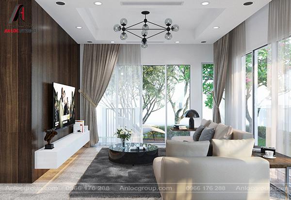 Mẫu 13 - Mẫu thiết kế phòng khách biệt thự đẹp