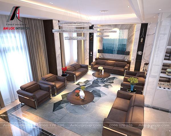 Mẫu 14 - Phòng khách biệt thự hiện đại