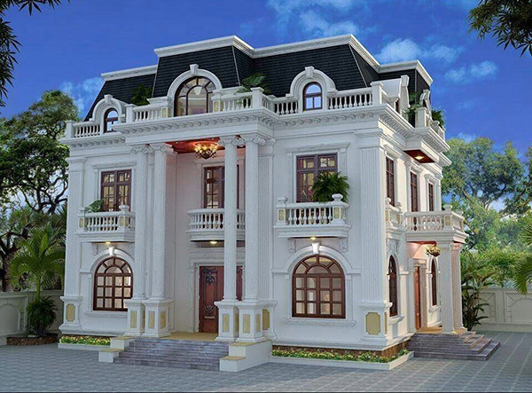 Mẫu biệt thự tân cổ điển 3 tầng đẹp thu hút ánh nhìn