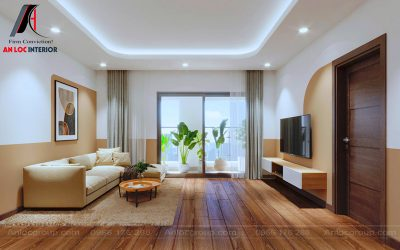Thiết kế căn hộ 1 pn 58m2 tại Tháp Thiên Niên Kỷ