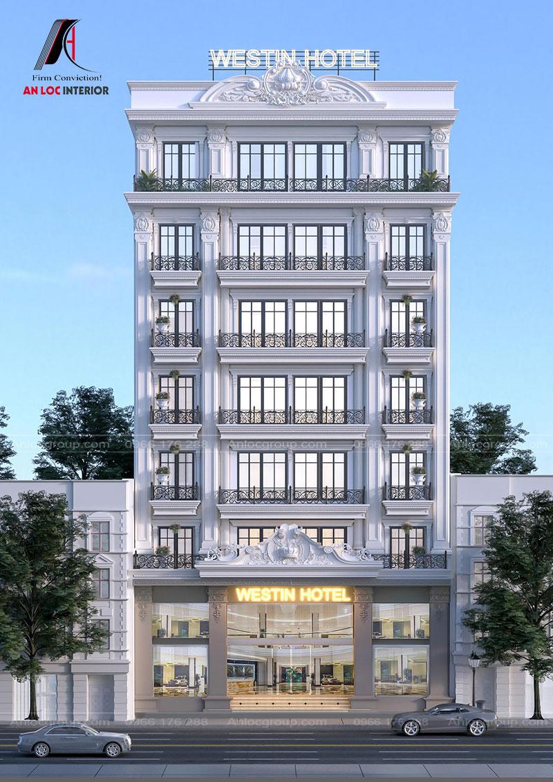 Ngoại thất kiến trúc kết hợp các phong cách thiết kế mang đến hình ảnh sang trọng, quyến rũ mà không kém phần tinh tế