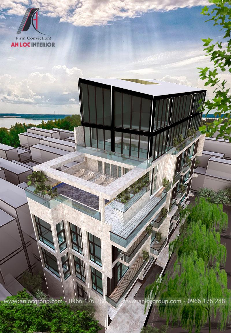 Thiết kế kiến trúc khách sạn tại Sài Gòn