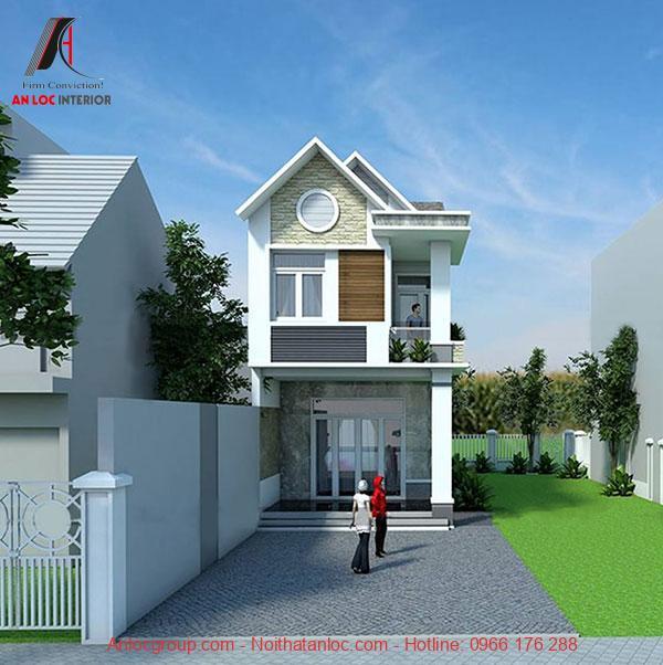 Thiết kế nhà 2 tầng giá 400 triệu ưu tiên nội thất đơn giản