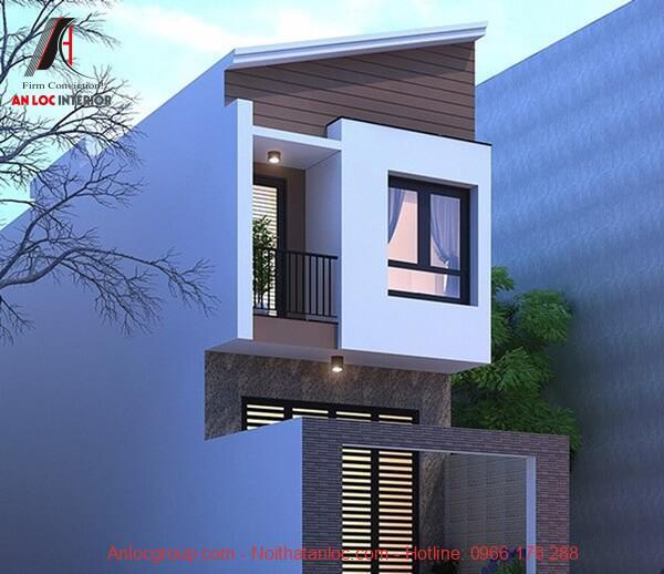 Khung cửa lớn mang đến ánh sáng chan hòa cho thiết kế nhà 2 tầng 400 triệu