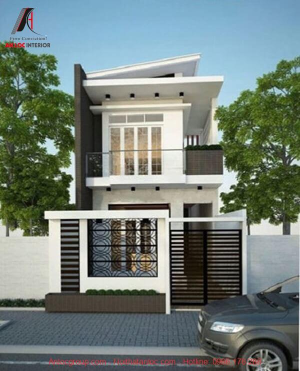Thiết kế nhà 2 tầng đẹp, hiện đại mang đến ấn tượng cho người nhìn