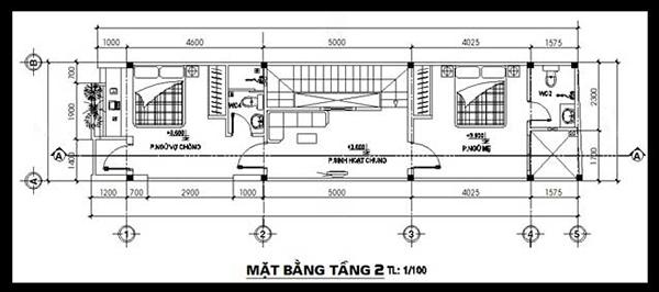 Bản vẽ thiết kế nhà 50m2 với tầng 2 chi tiết, khoa học